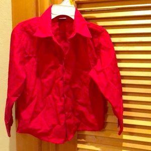 Red Collar Shirt